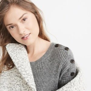Abercrombie & Fitch Button Shoulder Sweater Dress